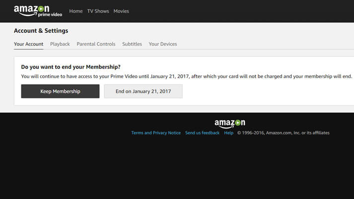 Amazon Prime Video Opzeggen
