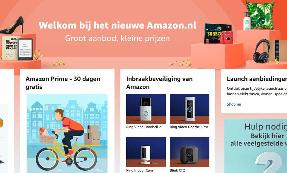 Amazon lancering in Nederland
